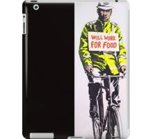 Will work for food! iPad Case/Skin