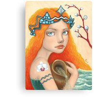 Aquarius Girl Canvas Print