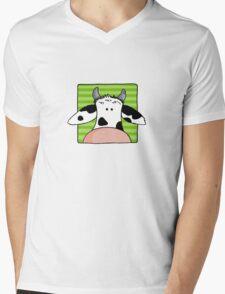 Close up cow Mens V-Neck T-Shirt