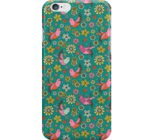 Doodle Birds Floral Pattern iPhone Case/Skin