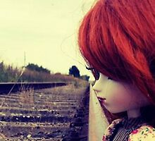 Ginger on a railway by QueenOfWater