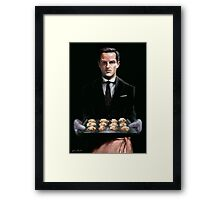 Moriarty with Cookies Framed Print