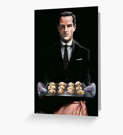 Moriarty with Cookies Greeting Card