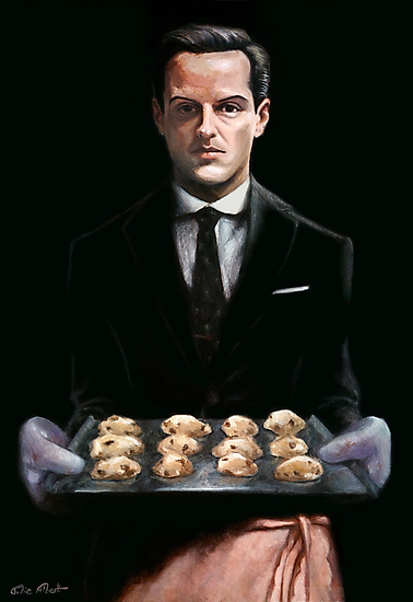 Moriarty with Cookies by juliealberti
