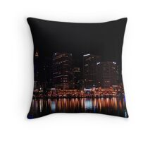 Panorama of Sydney CBD from Darling Harbour Throw Pillow