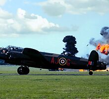 Lancaster PA474 under attack by Colin Smedley