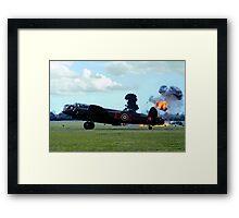 Lancaster PA474 under attack Framed Print