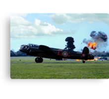 Lancaster PA474 under attack Canvas Print