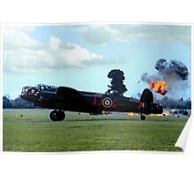 Lancaster PA474 under attack Poster