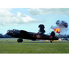 Lancaster PA474 under attack Photographic Print