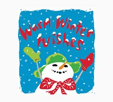 Snowboy's warm winter wishes Unisex T-Shirt