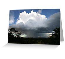 Hail Cloud Greeting Card