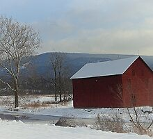 christmas barn by Tgarlick