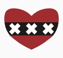 Heart Shaped Flag of Amsterdam by sweetsixty