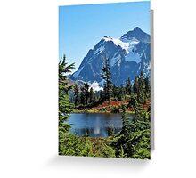 Picture Lake, Mt Shuksan Greeting Card
