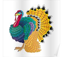 Fancy Thanksgiving Turkey Poster