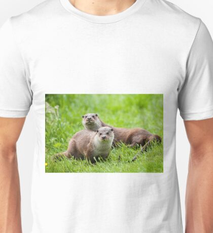 European otters Unisex T-Shirt