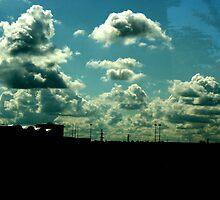 Sunset Skyline by muddypainter