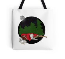 wolves and girls. Tote Bag