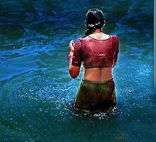 *TAKING BATH* by KAILASH MITTAL