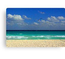 The Beach at Playa del Carmen Canvas Print