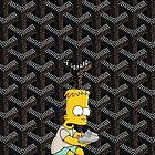 Yeezy Bart simpspon X Goyard Art Work by Radicalf