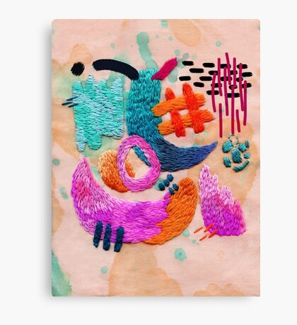 abstract embroidery Canvas Print