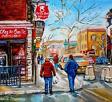 CANADIAN PAINTINGS OF CITY SCENES AND CITY SHOPS BY CANADIAN ARTIST CAROLE SPANDAU by Carole  Spandau