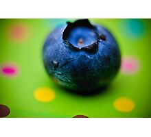 The First Blueberry Photographic Print