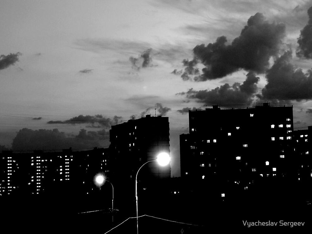 Moscow midnight, white night by Vyacheslav Sergeev