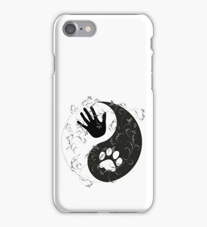 Yin Yang - Hand and Paw iPhone Case/Skin