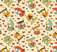 Hear Little Owls Pattern. by Kimazo