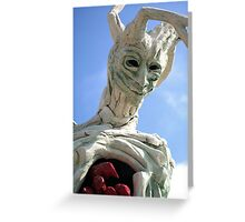 tree sculpture Greeting Card