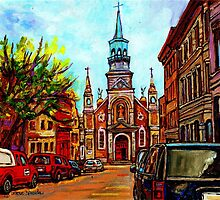 EGLISE BONSECOURS PAINTINGS OF CANADIAN CITIES AND CHURCHES BY CANADIAN ARTIST CAROLE SPANDAU by Carole  Spandau