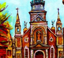 EGLISE BONSECOURS PAINTINGS OF CANADIAN CITIES AND CHURCHES BY CANADIAN ARTIST CAROLE SPANDAU Sticker
