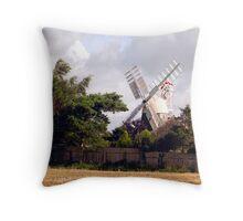 A Norfolk Windmill Throw Pillow