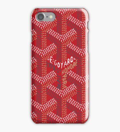 Goyard - Red iPhone Case/Skin
