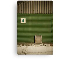 2012 London Olympic Pre-Demolition Green 5 Canvas Print