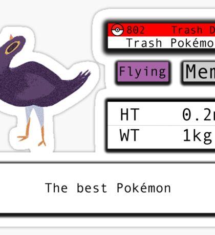 Trash Dove Pokedex entry  Sticker