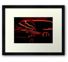 Black Car, Red Lights Framed Print
