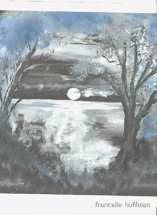 moon dream  by francelle  huffman