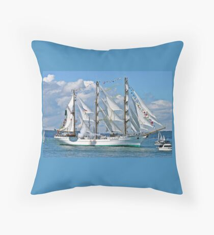 Tall Ship Cuauhtemoc Throw Pillow
