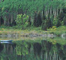 Drifting boat by Elizabeth Heath