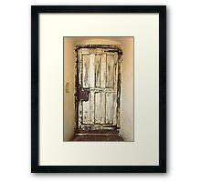 sacristy door Framed Print