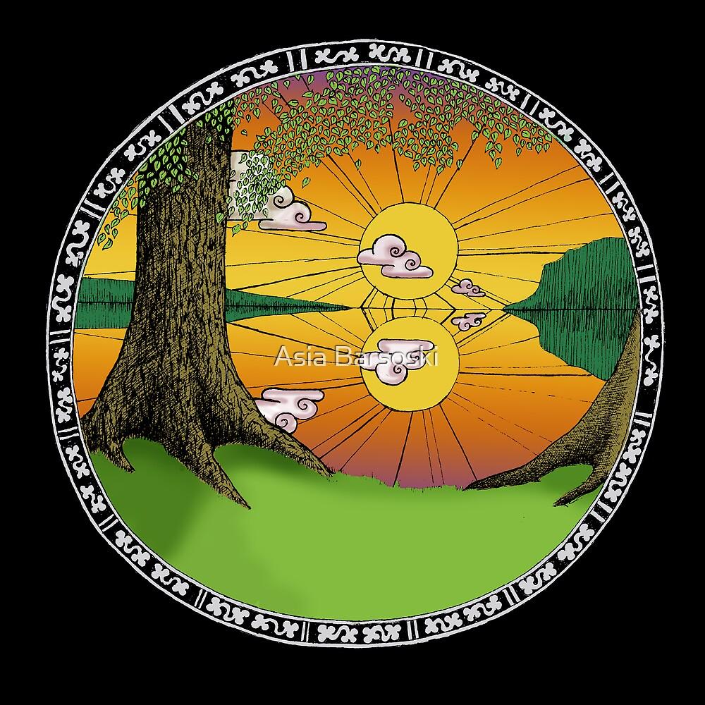 Celtic Porthole by Asia Barsoski