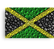 Jamaican Cannabis Flag  Canvas Print