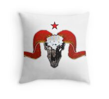 Turbo Ram Skull Throw Pillow
