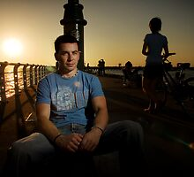 Jono in St Kilda by Andrew  Maccoll