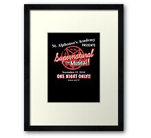Supernatural The Musical Framed Print