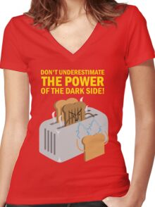 The power of the dark side Women's Fitted V-Neck T-Shirt